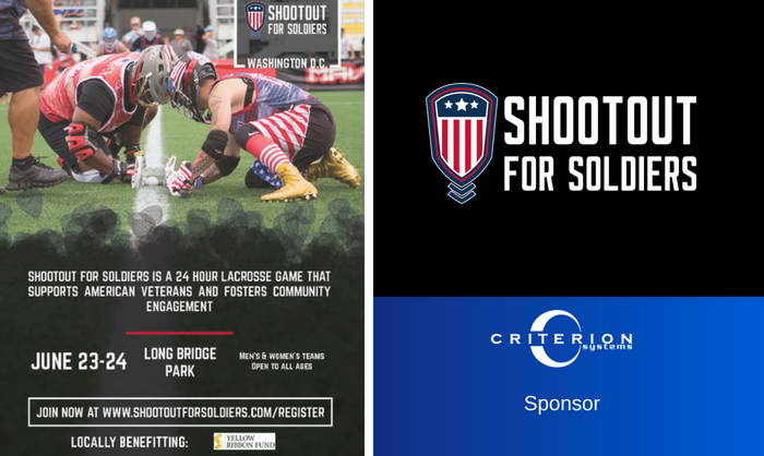 Criterion Sponsors Shootout for Soldiers