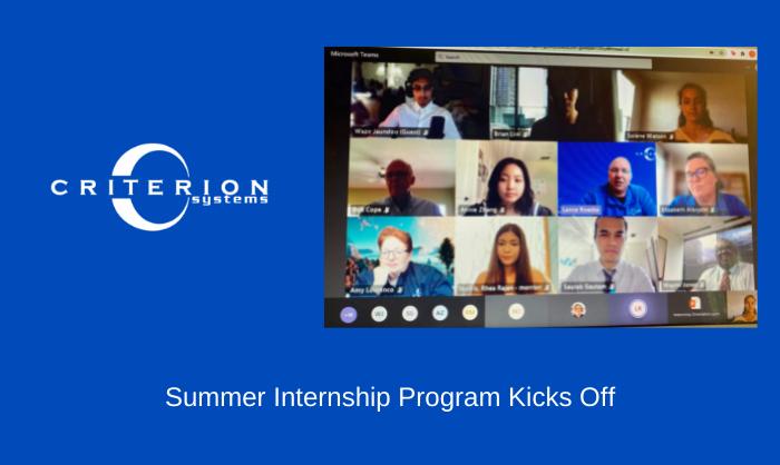 Summer Internship Program Kicks Off